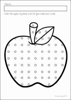 Preschool, Kindergarten, Back to School No Prep Worksheets and Activities. A page from the unit: using glue practice.