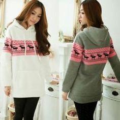 Cute deer polka dot hoodie sweats outwear Sweatshirts 83719c4da