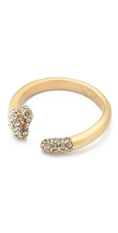 house of harlow pave bone ring / shopbop.com