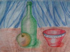 Coisas - Natureza Morta Pintura a lápis de cor Painting, Pencil Painting, Colouring Pencils, Still Life, Colors, Drawings, Paintings, Art, Painting Art