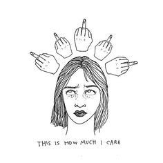 middle finger tumblr drawing - Google Search