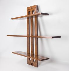 Wall Shelf Arts and Crafts Three-tier by vollmanwoodworking