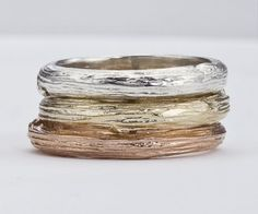 Wedding Band for Men/Women  -  Branch Design in Gold - As seen in Huffington Post Weddings and Etsy Wedding Showcase. $690.00, via Etsy.