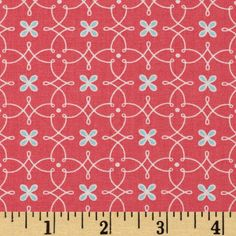 Michael Miller Helen's Garden Parterre Pink from @fabricdotcom  Designed by Tamara Kate for Michael Miller Fabrics, LLC, this fabric is perfect for quilting, apparel and home décor accents.  Colors include aqua and white on a pink background.