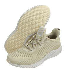 free shipping e1a6b c4c71 adidas Womens Alpha Bounce for Women Running Shoes Badminton Shoes Beige  BW1196 adidas CrossTraining