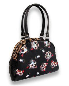 Liquor Brand Damen CATS Handtasche/Bags.Tattoo,Pin up,Rockabilly,Oldschool Style
