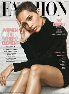 Cover girl: Zoe Kravitz covers Canada's Fashion Magazine for their March 2018 issue Zoe Kravitz hopes to encourage change in the entertainment industry to help stop sexual harassment. She also opened up about working on Big Little Lies. Short Pixie Haircuts, Pixie Hairstyles, Short Hair Cuts, Black Pixie Haircut, Blonde Pixie Cuts, Pixie Styles, Curly Hair Styles, Natural Hair Styles, Natural Beauty