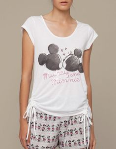 Sequinned Minnie & Mickey top - T-shirts - Oysho & Friends - SHOP BY CATEGORY - United Kingdom
