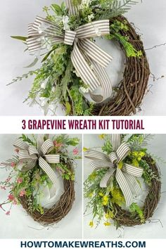 Check out our latest Wreath Subscription Box in action. This bright and colorful wreath kit is airy and whimsical - perfect for spring. It will brighten any porch this season, plus it comes with a bonus! Make Your Own Wreath, How To Make Wreaths, Front Door Decor, Wreaths For Front Door, Pretty Room, Seasonal Decor, Grapevine Wreath, Grape Vines, Whimsical