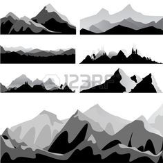 Find Mountain Set stock images in HD and millions of other royalty-free stock photos, illustrations and vectors in the Shutterstock collection. Thousands of new, high-quality pictures added every day. Shadow Light Box, Mountain Silhouette, Mountain Mural, Geometric Mountain, Silhouette Painting, Kitchen Wall Art, Wall Murals, Decoration, Silhouettes