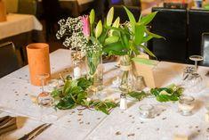 wedding diy table décor champetre