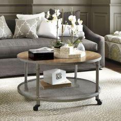 Industrial Round Coffee Table | Lighting | Ballard Designs $229.99