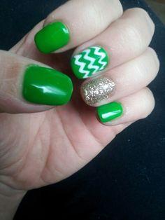 My St. Patty's nails