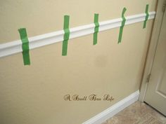 A Stroll Thru Life: Install Wide Baseboard Molding Over Existing Narrow Baseboard Baseboard Styles, Baseboard Molding, Wainscoting Styles, Baseboards, Baseboard Ideas, Crown Molding, Cheap Bathroom Remodel, Cheap Bathrooms, Best Interior Paint