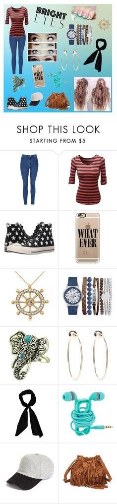 """Bright Eyes"" by calikittiembb ❤ liked on Polyvore featuring Glamorous, Converse, Casetify, Allurez, Jessica Carlyle, Bebe, donni charm and rag & bone"