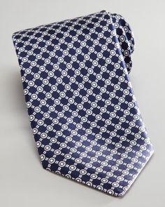 Diagonal Circles Tie, Navy/White  by Stefano Ricci at Neiman Marcus.