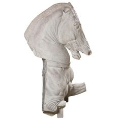 Monumental Late 19th C Continental Plaster Horse Sculpture | From a unique collection of antique and modern sculptures at http://www.1stdibs.com/furniture/more-furniture-collectibles/sculptures/