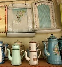 I have several drip coffee pots.. one of my grandmothers also... love collecting old things!   sweet birdie