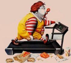 Frases, chistes, anécdotas, reflexiones, Amor y mucho más.: Chistes gráficos. La dieta de Ronald Mcdonald