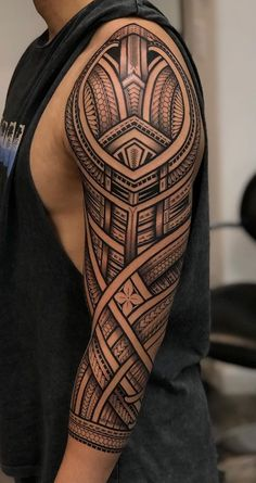 30 Coolest Tribal Tattoos For Men Polynesian Tattoo Sleeve, Polynesian Tattoos Women, Polynesian Tattoo Designs, Maori Tattoo Designs, Tribal Tattoos For Men, Tribal Sleeve Tattoos, Tattoos For Guys, Filipino Tribal Tattoos, Hipster Tattoo