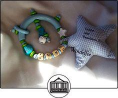 Sonajero greifling, estrella, Dino, Prinz, niño con nombres, regalo para nacimiento, bautismo, Baby Party...  ✿ Regalos para recién nacidos - Bebes ✿ ▬► Ver oferta: http://comprar.io/goto/B01MSIH5SG