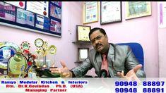 Ramya Modular Kitchen & Interiors Rtn. Dr. K Govindan  Ph.D. (USA)   90948 88891   Managing Partner - YouTube