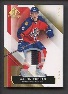 b75109072c2 2015-16 SP Game Used Edition Aaron Ekblad Panthers 3-Color Patch 47/