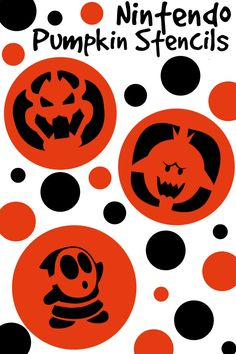 Nintendo Halloween Pumpkin Stencils - Totally The Bomb.com