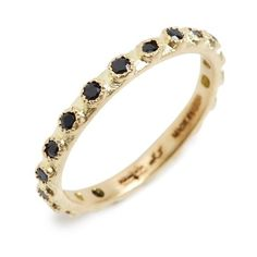 Women's Armenta Sueno Sapphire Stack Ring ($990) ❤ liked on Polyvore featuring jewelry, rings, gold, sapphire stackable ring, 18 karat gold ring, studded jewelry, stackable rings and armenta rings