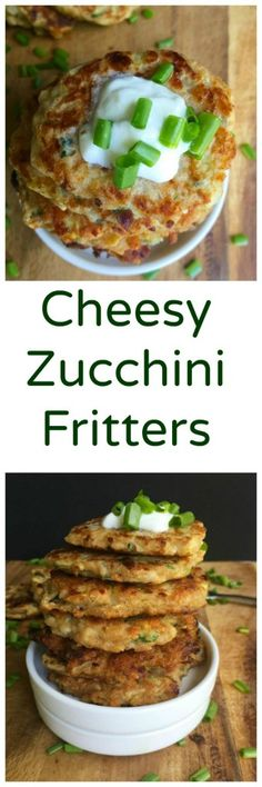 Cheesy Zucchini Fritters have crispy edges, tender insides and make a great snack or side dish to your lunch or dinner. // A Cedar Spoon