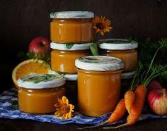 Składniki:   - 2 kg jabłek   (przygotowane bez gniazd nasiennych,skórek i pestek)   - 1 kg marchewki   - 3 pomarańcze   - 1/2 kg cukru...