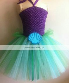 Halloween Costume Mermaid tutu dress, costume, birthday party dress, for playing dress up.
