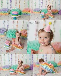 1st birthday photo props paper pom pms tissue by SimplyNesting