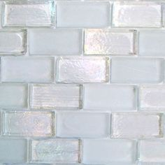 """Creative Decore Vision 1"""" x 2"""", 1"""" x 2"""", Siberia Blend, Glossy/Frosted & Iridescent, Clear, Glass"""