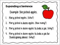 Teaching Kids to Write Super Sentences