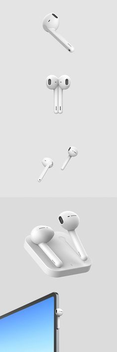 This concept wants to show how can the second generation of AirPods be. This version provides a magnetic flat surface that allows wireless charging and the ability to introduce new gesture for the control of AirPods. Monster Photos, Commercial Ads, Sports Headphones, Wearable Device, Basic Shapes, Design Lab, Wireless Earbuds, User Experience, Apple Watch Series