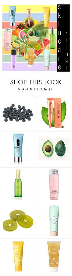 """""""Hello, Flawless: Skincare"""" by moody-board ❤ liked on Polyvore featuring beauty, Clinique, Tracie Andrews, Martha Stewart, Tata Harper, Lancôme, Benefit, Sisley, MAC Cosmetics and skincare"""