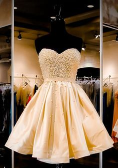 Charming Short Homecoming Dress,Beading Prom Dress,Sweetheart Ball Gown For Teens
