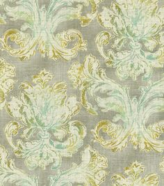 Home Dec Print Fabric-Waverly Classic Curves Cir Platinum at Joann.com Window treatments.