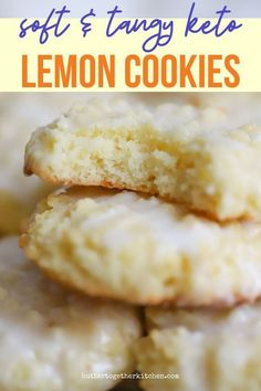 Butter Together Kitchen shares these soft homemade Thick and Soft Keto Lemon Cookies that are exactly what you need if you're looking for a delicious cookie that is bursting with lemon flavor! During the summer months, there is nothing better than citrus! If you love citrus, you will adore these low-carb lemon cookies! Low Carb Sweets, Low Carb Desserts, Low Carb Recipes, Yogurt Recipes, Cookie Recipes, Dessert Recipes, Dinner Recipes, Breakfast Recipes, Dessert Ideas