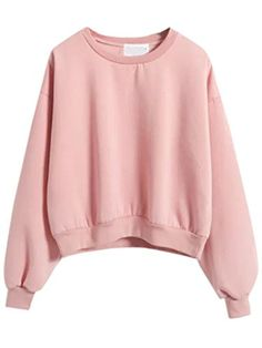 SweatyRocks Women Sweatshirt Drop Shoulder Pullover Fleece Crop Sweatshirts. material: 60% Cotton 40% Polyester. True to size. features round neckline, drop shoulder, crop top. extremely soft on the inside and the out, really cute with jacket and high waisted jeans, giving a great 90s 80s style. perfect for a chilly day. It'll go with almost everything. Please refer to the size measurement below before ordering.