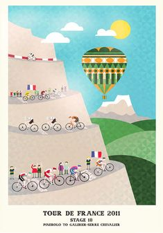 Wow! Check out this entire Tour de France set from Neil Stevens aka Crayonfire.