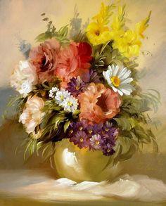 Фотографии ГАРМОНИЯ ЦВЕТА – 357 альбомов Flower Vases, Flower Art, Flower Arrangements, Flowers Nature, Faux Flowers, Art Floral, Oil Painting Flowers, Painting & Drawing, Rhinestone Art