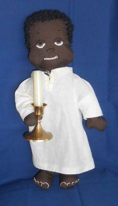 Handmade Black Americana Boy in Sleeping Gown by ErsatzEmporium, $25.00