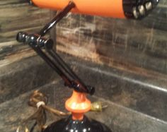 VINTAGE 1940'S BANKER'S LAMP  RE-PURPOSED HARLEY DAVIDSON BANKER'S LAMP