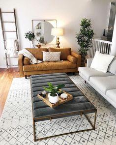 Simple Living Room, Elegant Living Room, Cozy Living Rooms, Home Living Room, Living Room Furniture, Living Room Designs, Living Room Decor, Small Living, Living Room Ideas Mid Century Modern