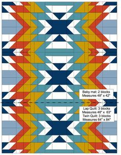 Sew Quilt Image of Quilt Pattern PDF - Go West - Buy the Go West PDF quilt pattern here in the Bonjour Quilts PDF Pattern Shop. A striking south-western style modern quilt pattern. Quilting Tutorials, Quilting Projects, Quilting Designs, Quilting Ideas, Sewing Designs, Sewing Projects, Sewing Patterns, Crochet Patterns, Southwestern Quilts