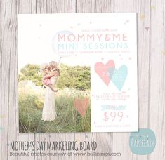 Mother's Day Template Mini Session Photoshop by PaperLarkDesigns, $8.00 #mommy and me