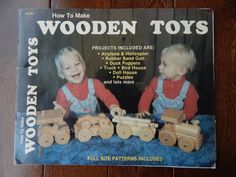 Wooden Toys Full Size Patterns Included/airplane, Helicopter, Rubber Bang Gun…