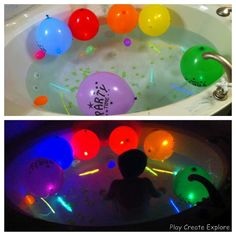 Themed Bath Nights--awesome! We did a glowstick night and a night with colored ice cubes already!